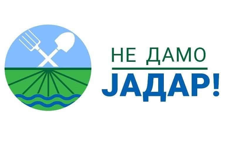 NE DAMO JADAR logo najnoviji